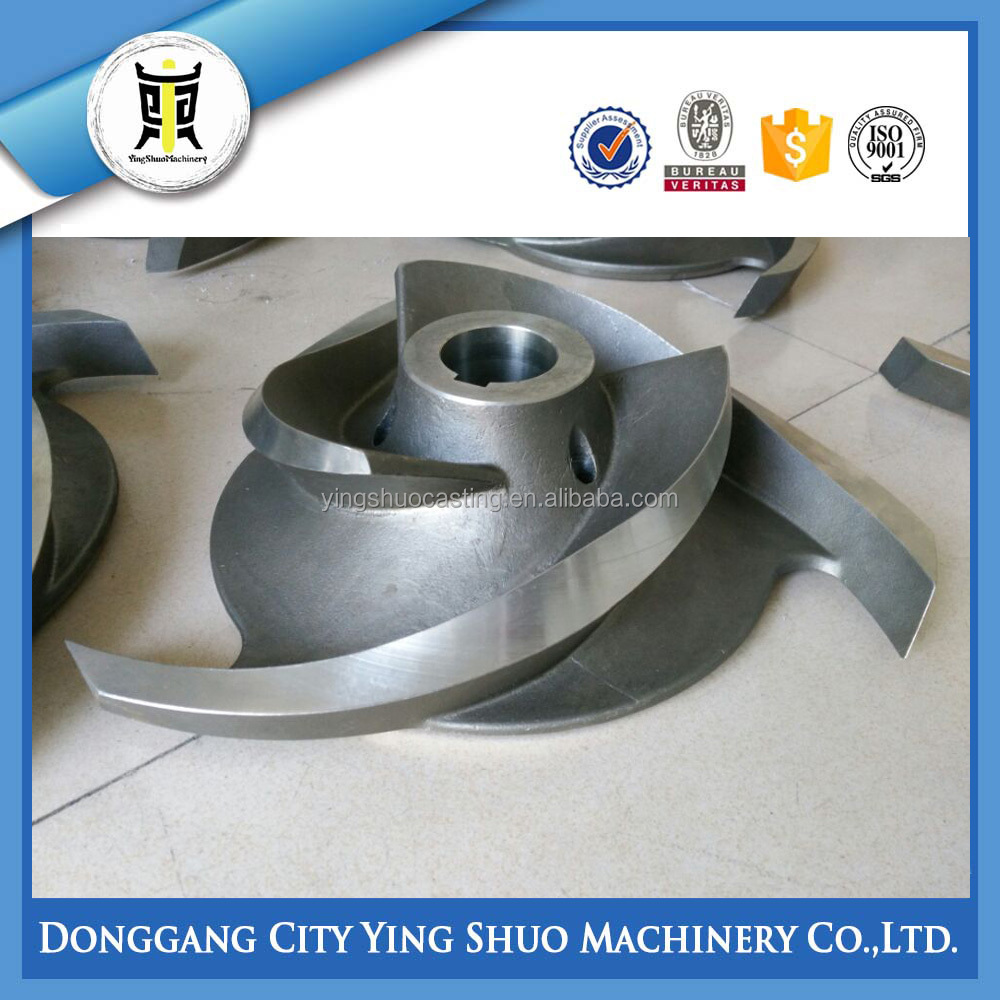 China supplier stainless steel machined casting pump impeller