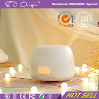 500Ml Room White Aroma Diffuser Essential Oil Humidifier 7 Color Led Bamboo Wood Wooden Grain Parts Gift Set