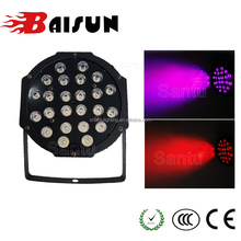 Baisun brand Mini Night Club Indoor 24pcs RGBW Plastic LED Par Light Stage Lighting