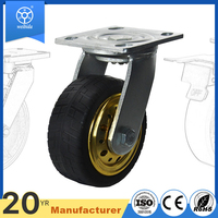 WBD Strong quality swivel brake 200mm rubber wheel