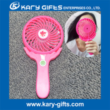 Strong Wind 3 Levels Rechargeable Handheld Mini Electric LED Hand Fan