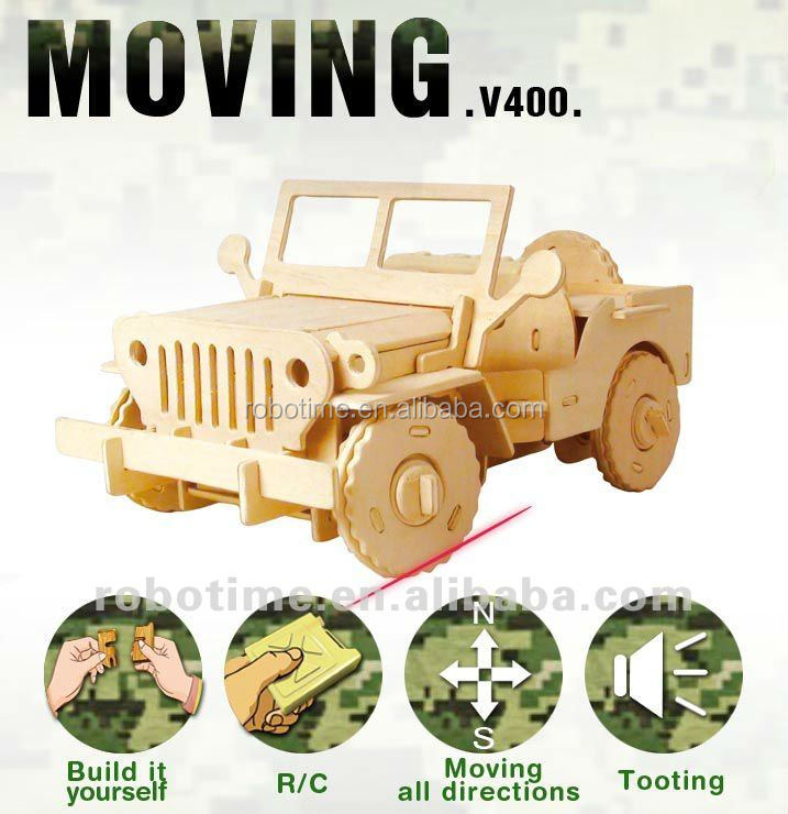 RC car Toys 3D Wooden DIY Educational Games For Kids