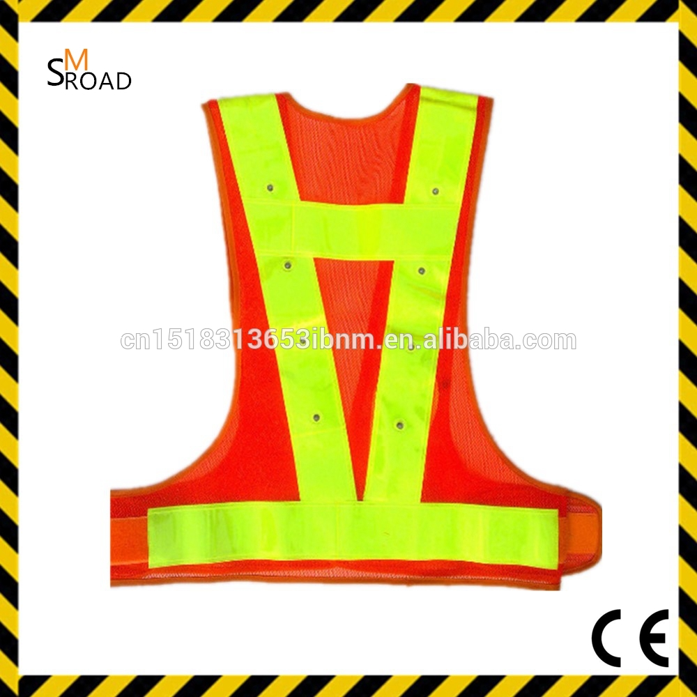Fashionable high visibility polyester reflective jumpsuit