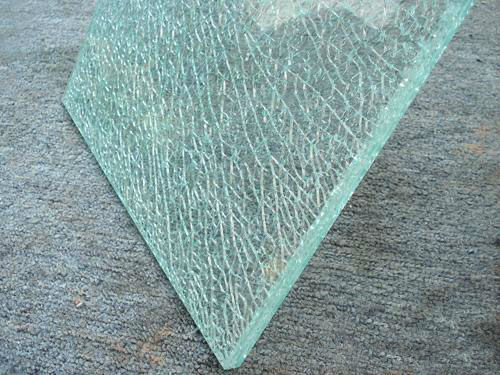 High Quality Cracked Ice Laminated Glass For Coffee Table