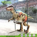 outdoor playground walking stainless steel animatronic dinosaur costume with camera