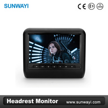 9Inch digital TFT DVD player headrest monitor with DVD,USB,SD Card,Game,IR,FM functions