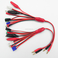 7 in 1 Multifunction Lipo Battery Charging Cable EC3 T Plug JST Tamiya JR Futuba Plug Clips Charger connectors