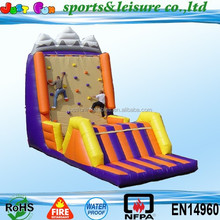 2015 giant inflatable climbing wall, exciting hot-selling inflatable wall, inflatable wall for adult