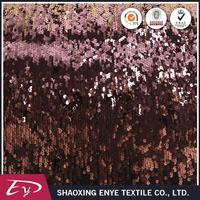 High quality free sample fashion knitted color changing sequins fabric