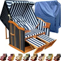 Beach Basket Wicker Roofed Beach Chair Strandkorb Beach Chair