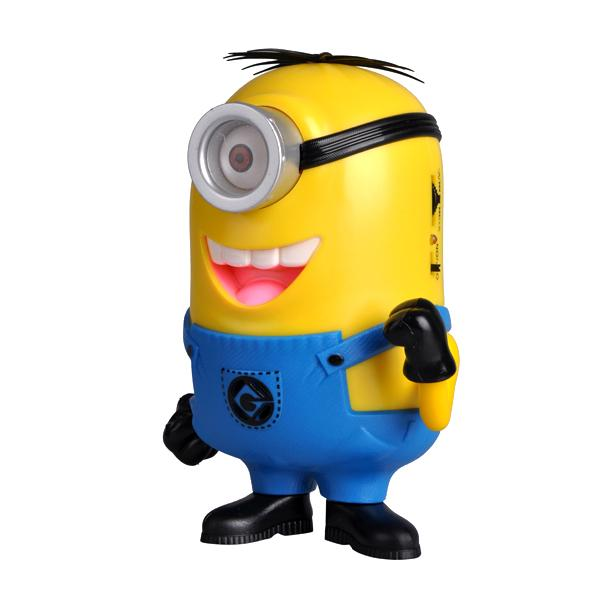 XC-02(Short One Eye)Despicable Me Cute Minions Mini Speaker Support MP3/TF Card/FM Radio/USB