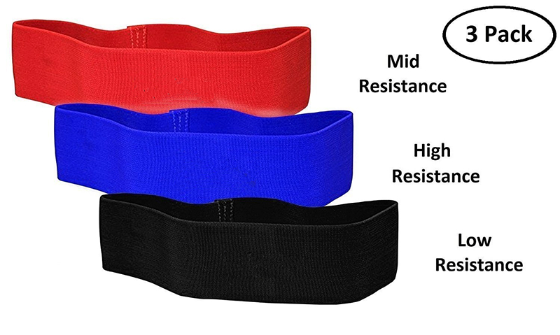 Hip Resistance Circle Sturdy Comfortable Elastic Loop Booty Band with Carry Pouch and Guidebook for Strengthen Hips & Glutes