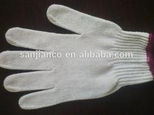 2014 hot selling yellow cotton chore gloves cotton knitted safety glove for workers 6116920000