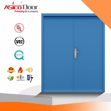 ASICO UL Listed Designer Interior Double Leaf Swing Flush Door For Kitchen