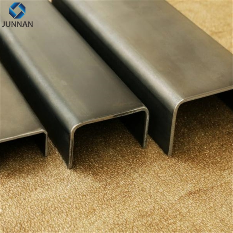 SS400 JIS standard H iron beam/ H steel/ channel steel U type metal building material 75x40x4x7mm weight chart and price