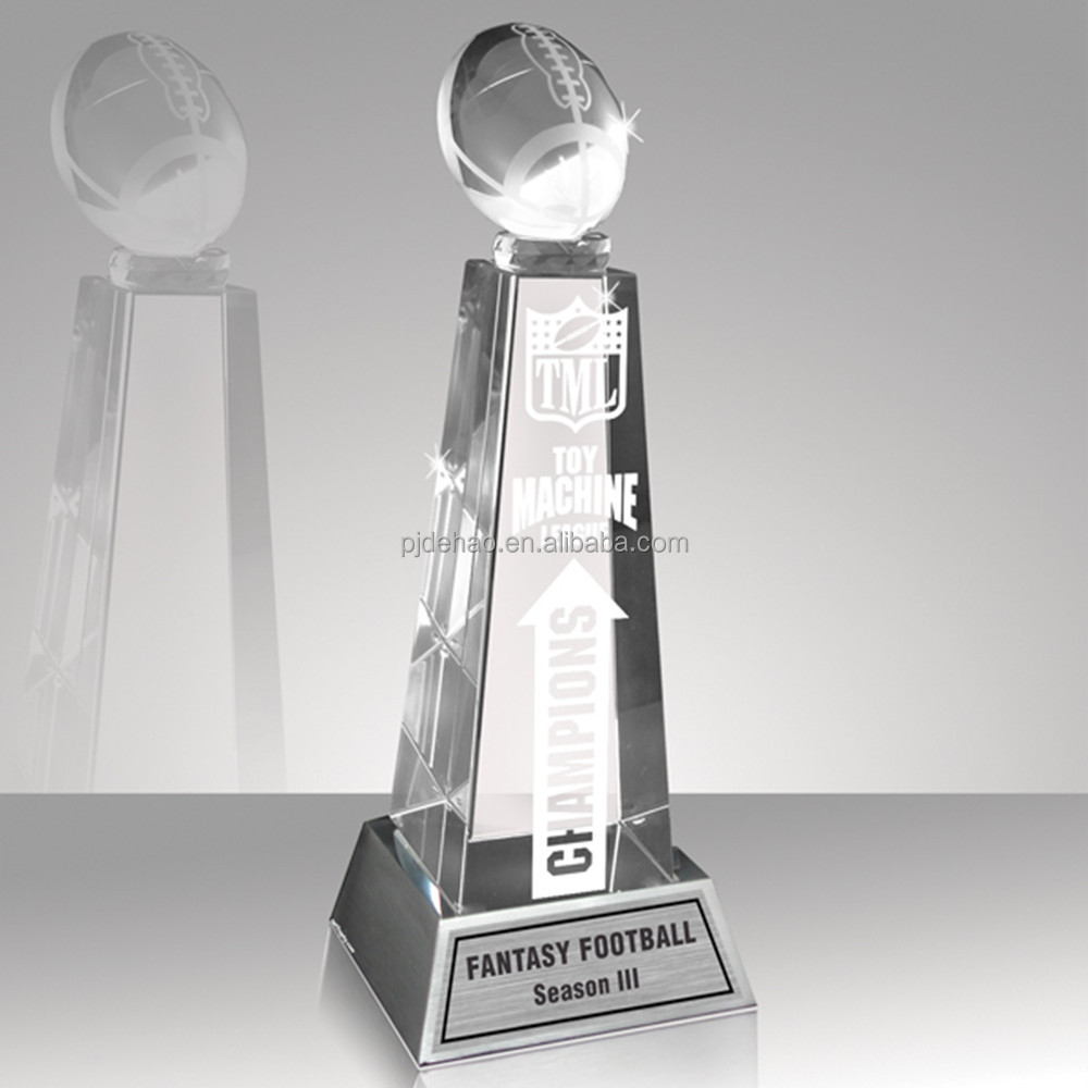 K9 Crystal Fantasy American Football Trophy
