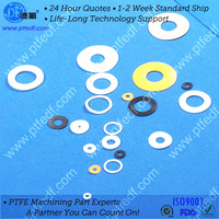 machining customized ptfe plastic part teflon components with high quality from China professional manufacturer