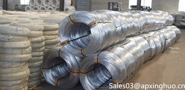 Galvanized Iron Wire Reeling for High-Speed Road Guardrail