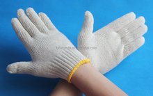 7 gauge nature white cotton hand gloves/cheap cotton gloves/best quality golves