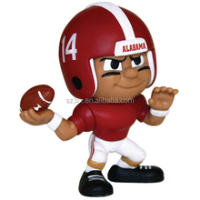 American football players plastic small figures/Make small Sports player plastic figures/Custom small plastic figure China Maker