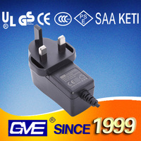 Various plug 5v 3a 12v 1.5a ac/dc power adapter with CE UL