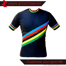 Wholesale Custom high quality sublimation printing blank bicycle cycling shirts design your own colorful cycling jersey