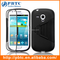 Case For Samsung Galaxy S3 Mini I8190 , Black PC Silicone Cellphone Cover