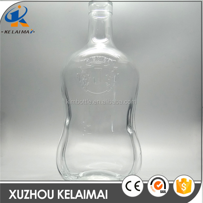 3L clear wine glass bottle