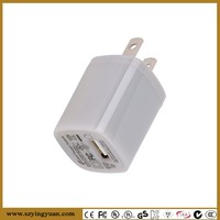 Micro Home and Travel Wall Charger with USB Port - 1 AMP / 5 Watt