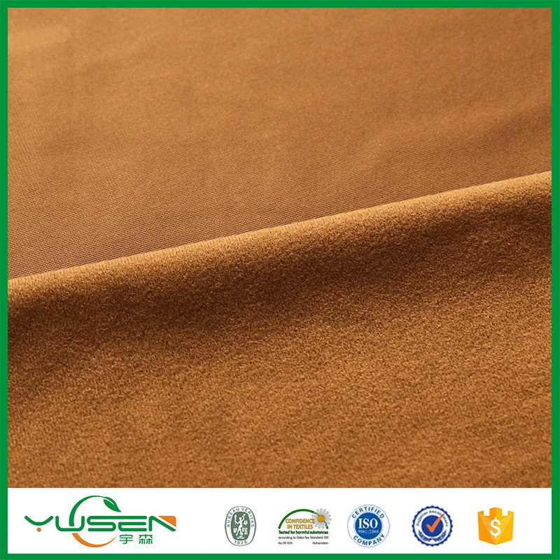 100% polyester tricot dazzle fabric/brushed tricot fabric for school uniform