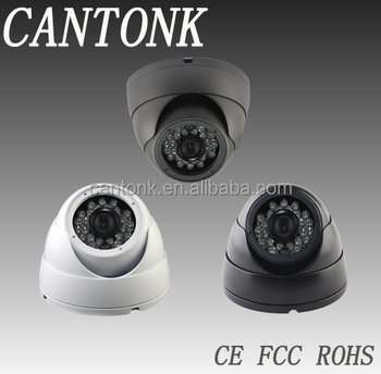 CCTV security camera 20m 3.6mm fixed IR indoor Vandalproof Dome