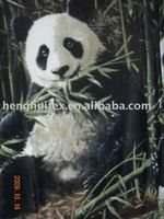 panda printed 100% polyester polar fleece fabric /blanket