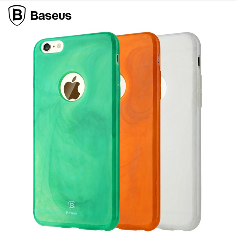 Baseus Bling Protective Soft TPU Light Cover for iPhone 6 6S Plus Top Quality Knock Proof Phone Back Case Shell