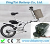 free shipping 36v 17ah li-ion ebike battery for folding electric bike with charger