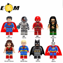 Super HeroSuperman Cybog The Flash Aquaman Wonder Woman figures Building Blocks figures