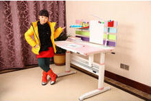 Lifting children study table/kids study desk with angle adjustable worktop study desk