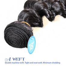 AAAA grade 100% unprocessed Remy virgin Malaysian loose wave hair extension clip human hair 50cm