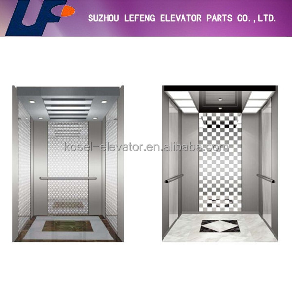 Stainless steel hairline cabin|Elevator stainless steel cabin|Good price elevator cabin
