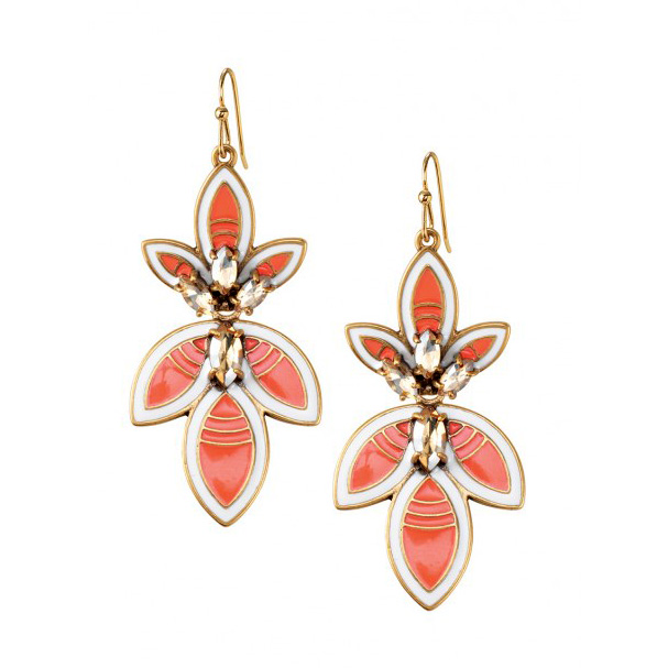 Pretty brass red 3 leaf clover earring, pendant detachable earring, style easy to change earring