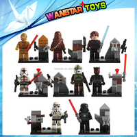 Wholesale-8pcs/Lot SY198 Minifigure Buliding Block Bricks Toy Learning blocks.Starwars mini 8pcs/set.opp bag