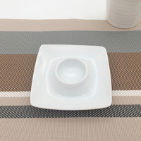 Wholesale eco-friendly ceramic square egg tray small dish for childrens