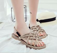 Summer new fashion DIY grass rope knitting sandals