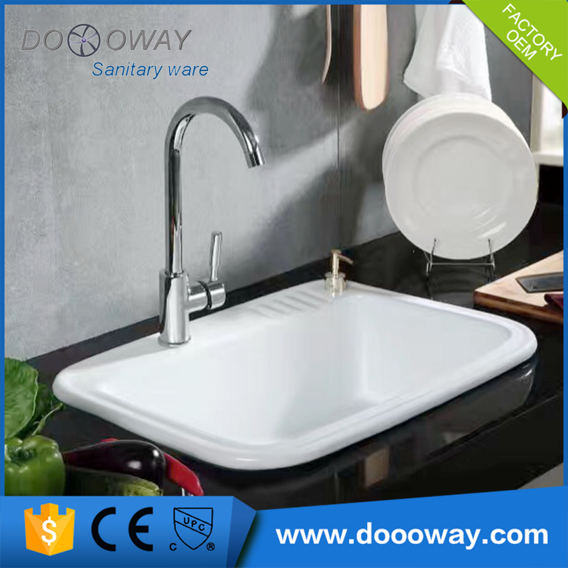 China wholesale kitchen ceramic basin size