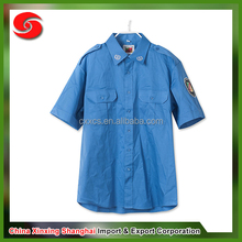 Navy short sleeve military shirt for police and worker