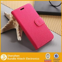 Popular lychee wallet leather for Google Nexus 5 case, low price pu leather case for Google Nexus 5