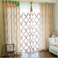 2016 Hot Sale 100% Polyester Double Layer Voile Curtain Sheer