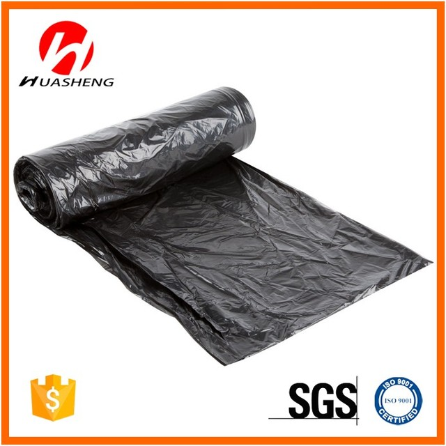 HDPE Biodegradable Recycled Black Garbage bags Bin Liner Bags On Roll