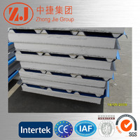 High quality PU construction metal surface heat insulation sandwich board aluminum roof/wall panel