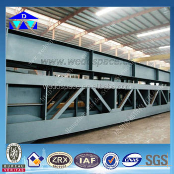 Steel beams and steel column used in warehouse/workshop construction