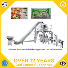 Automatic frozen meat ball/chicken nuggets/meat cubs packing machine
